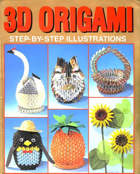 3d origami book free pdf 3d origami colouring books step by step