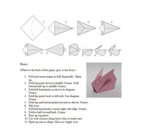 origami pdf origami bunny
