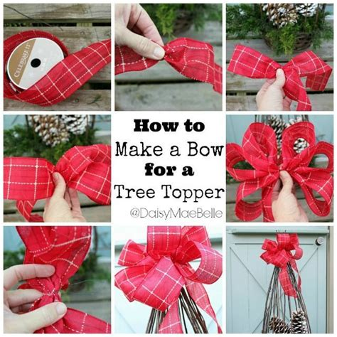 how to make bows for tree diy tree topper bow pictures photos and images for