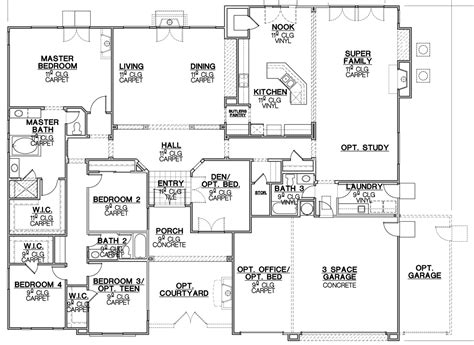 home floor plans california california ranch house plans house design plans