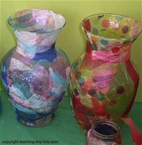 decoupage vase ideas toddler activities pretty decoupage jar