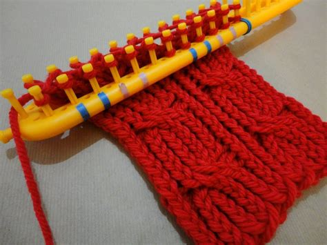 how to loom knit a scarf on loom how to loom knit a cabled scarf with a rectangular loom