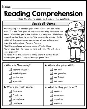 read one free grade reading comprehension passages set 1 by