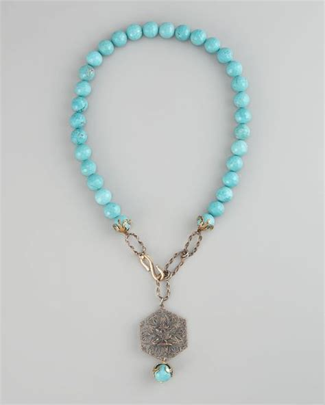 beaded turquoise necklace heals turquoise beaded necklace in blue turquoise