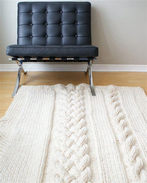 diy knit rug diy knitting pattern throw blanket rug chunky