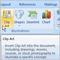 Word 2007 Tutorial Word 2007 Clipart Not Working