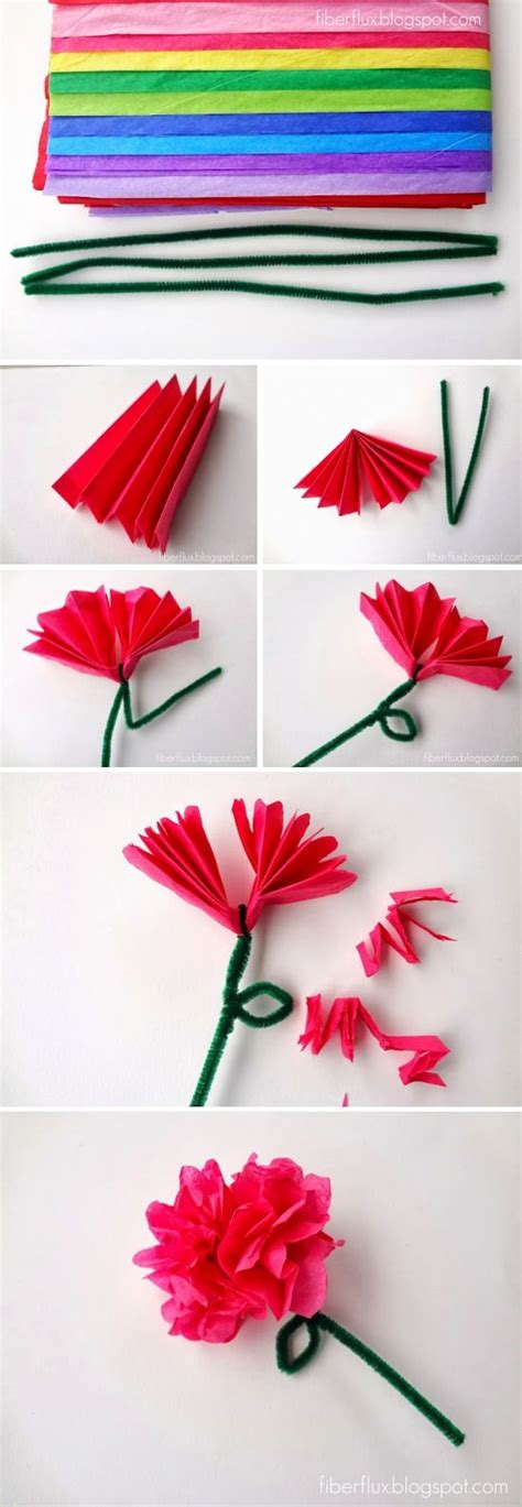 how to make craft paper flowers 25 best ideas about paper flowers craft on