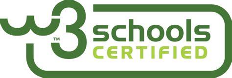 w3school w3schools certification