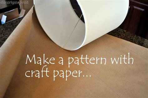 craft paper l shades diy cover a lshade