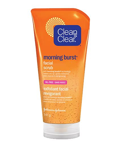 bursting clean and clear morning burst 174 scrub clean clear 174 canada