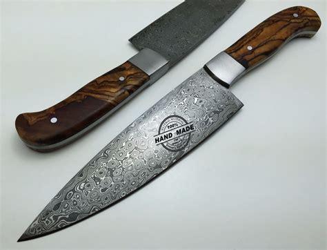 damascus kitchen knives regular damascus kitchen knife custom handmade damascus steel4