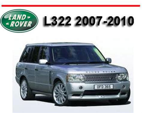 old car repair manuals 2010 land rover range rover windshield wipe control range rover l322 2007 2010 workshop repair service manual downloa