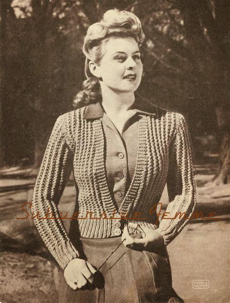 1940 knitting patterns free the vintage pattern files 1940 s knitting belinda cardigan