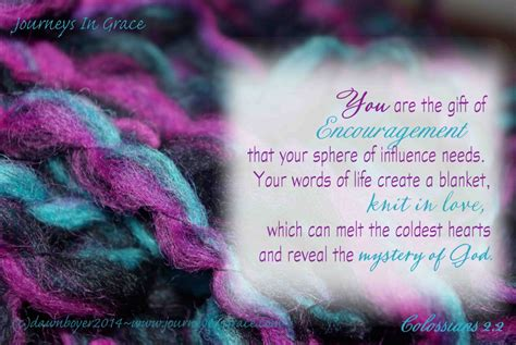hearts knit together in encourage your sphere of influence journeys in grace