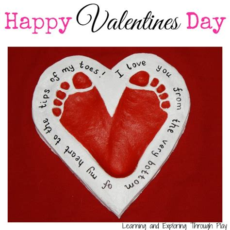 valentines day craft s day crafts footprint hearts ted s