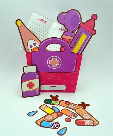 paper craft kit purple pink doctor s kit printable paper craft pdf