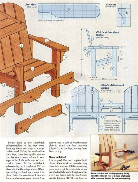 Folding Adirondack Chair Plans by Childrens Adirondack Chair Plans Woodarchivist