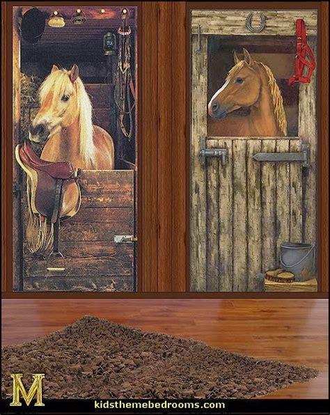Horse Wall Mural decorating theme bedrooms maries manor farm theme