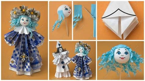 paper doll craft ideas how to make flower doll from paper simple craft ideas