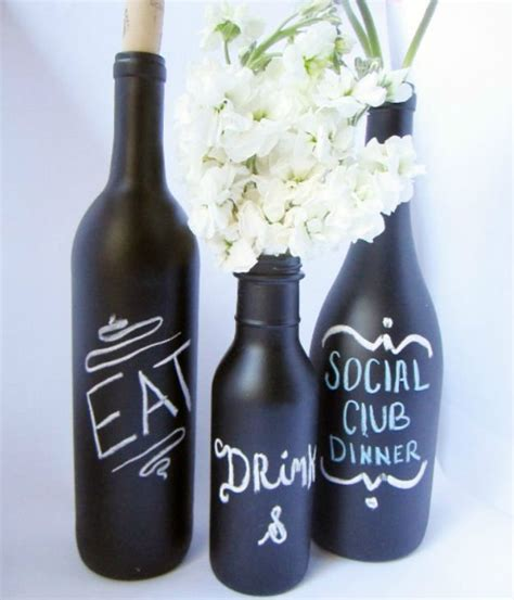diy chalkboard bottles uses for chalkboard paint diy projects craft ideas how
