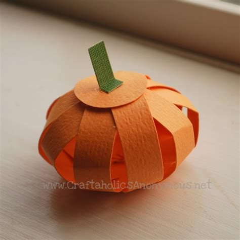 paper pumpkin craft craftaholics anonymous 174 paper pumpkin tutorial