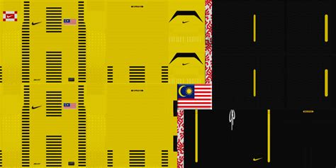 kit malaysia malaysia national team kit home and away for pes 2011