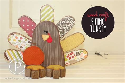 thanksgiving craft kits for sitting turkey wood craft available unfinished and as kit