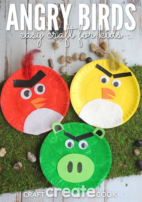 craft activities for craft create cook angry birds paper plate craft
