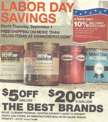 home depot paint rebate form home depot behr paint labor day rebate