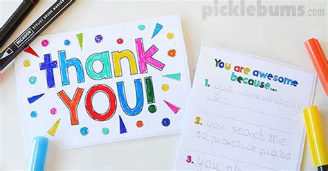 how to make thank you cards printable thank you cards to make with your