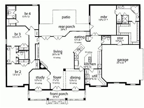 country kitchen floor plans country kitchen house plans homes floor plans