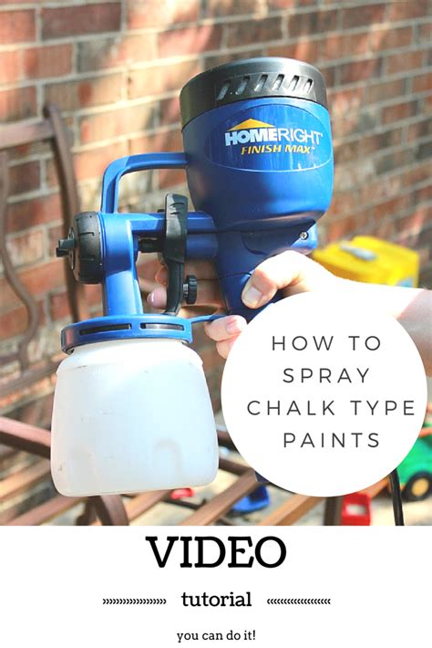 chalk paint sprayer tutorial on spraying chalk type paint by refunk my