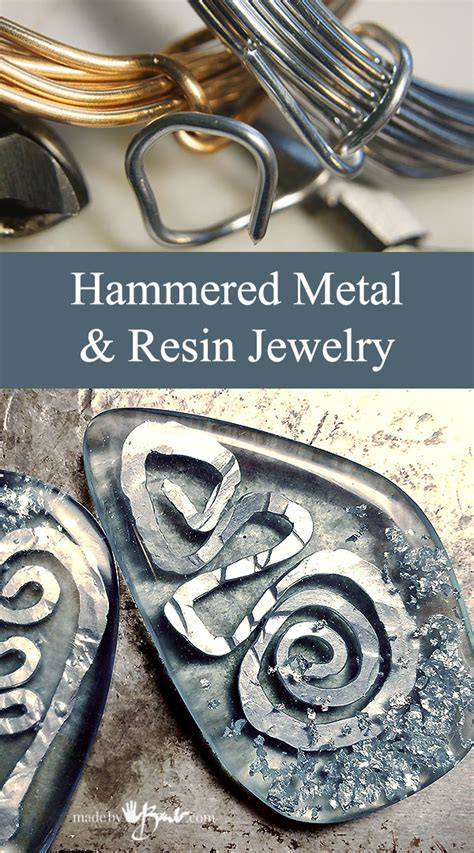 make your own metal jewelry hammered metal and resin jewelry made by barb diy