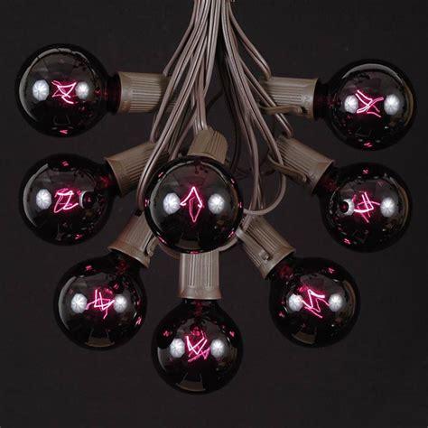 black light string black light satin g50 globe outdoor string light set on