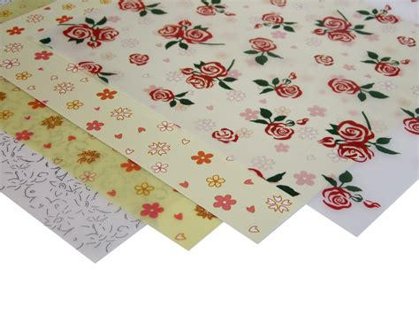 craft paper uk patterned floral vellum paper 4 sheets craft factory