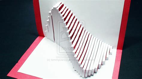how to make a 3d card how to make a wave pop up card kirigami 3d by