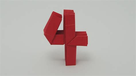 how to make origami numbers origami number 4