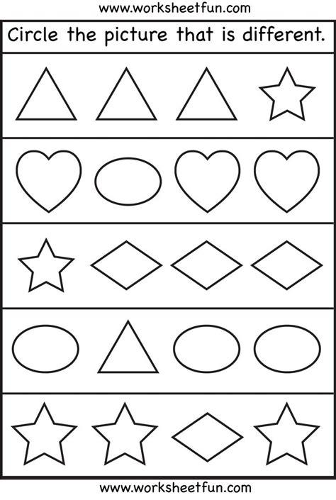 for printables 166 best pre k shape worksheets crafts images on