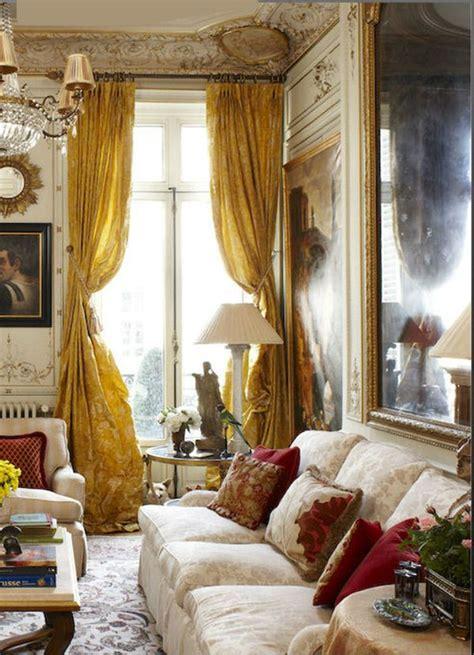 Dining Room Drapery Ideas paris pied 224 terre corrigan interiors paris apartment