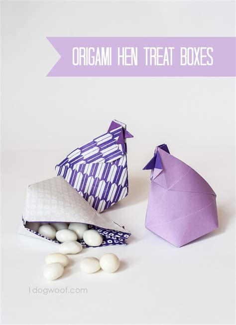 origami treat box o is for origami hen treat boxes a z craft month one