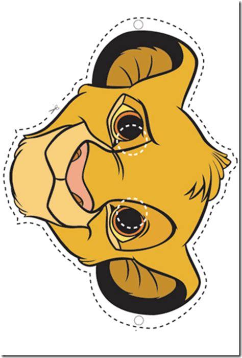 imprimir entradas rey leon caretas de simba rey le 243 n para imprimir colorear tus dibujos