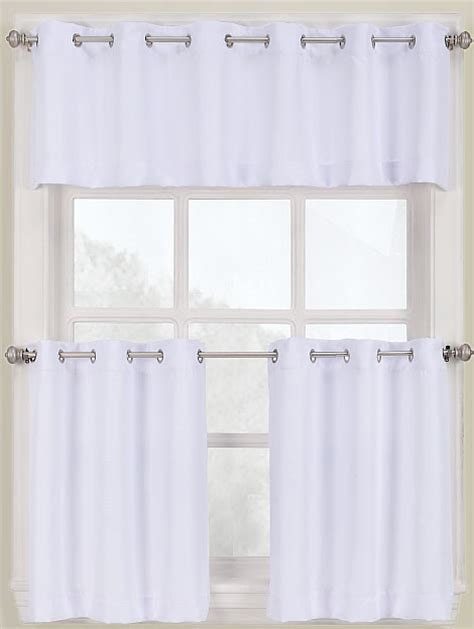 and white kitchen curtains montego grommet kitchen curtains white lichtenberg