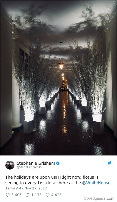 white house decorations 30 hilarious reactions to melania trump s creepy white