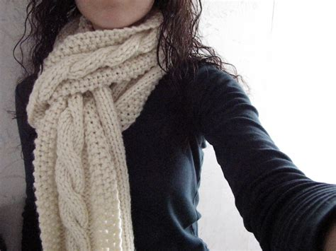 cable knit scarf pattern cozy wooly cabled scarf
