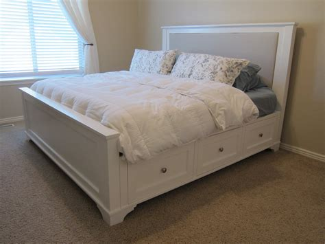do it yourself bed frame here s what it looks like today nightstand tutorial is on