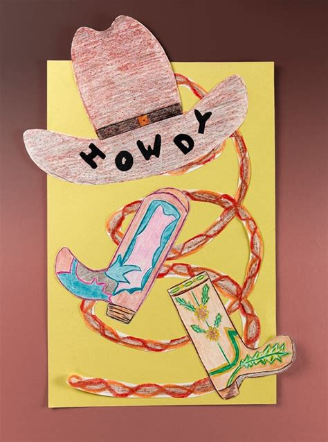 cowboy crafts for ten gallons toes in craft crayola