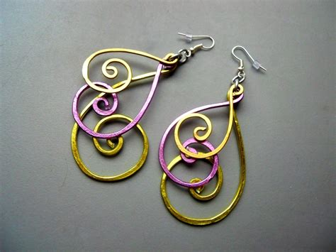 earrings with wire sted peacock wire earrings variation by lashink on