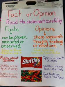 picture books to teach fact and opinion fact or opinion anchor chart nbcts offer free ideas and