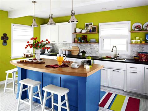 small kitchen color ideas pictures exceptional kitchen with colorful color idea also blue island and green walls best kitchen color