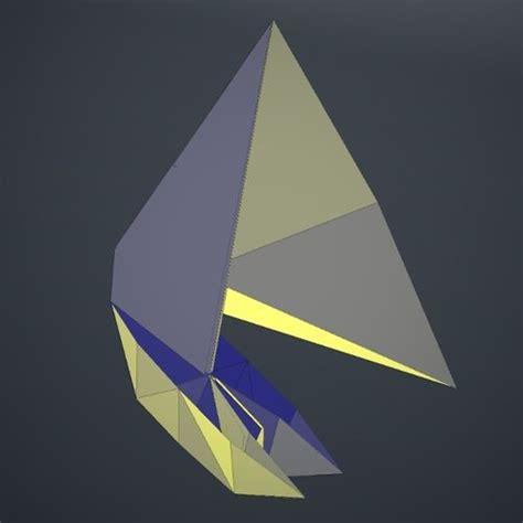 3d origami boat origami boat 3d model obj fbx dae lxo cgtrader